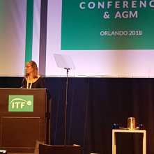 MC at the historic ITF AGM 2018 in Orlando