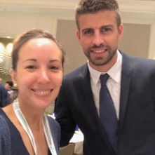With Gerard Piqué the morning of the historic vote that changed the Davis Cup format (7.30 am, thus the face xD )