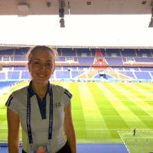 Cecilia Lagos at the Parc Des Princes