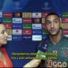 Interviewing Hakim Ziyech for TUDN