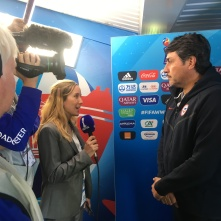 Chilean Coach on Arrival for the FIFAWWC 2019 official broadcast