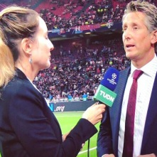 Interviewing Edwin Van der Sar for TUDN