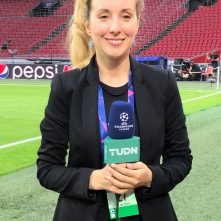 Working for TUDN at the UEFA Champions League